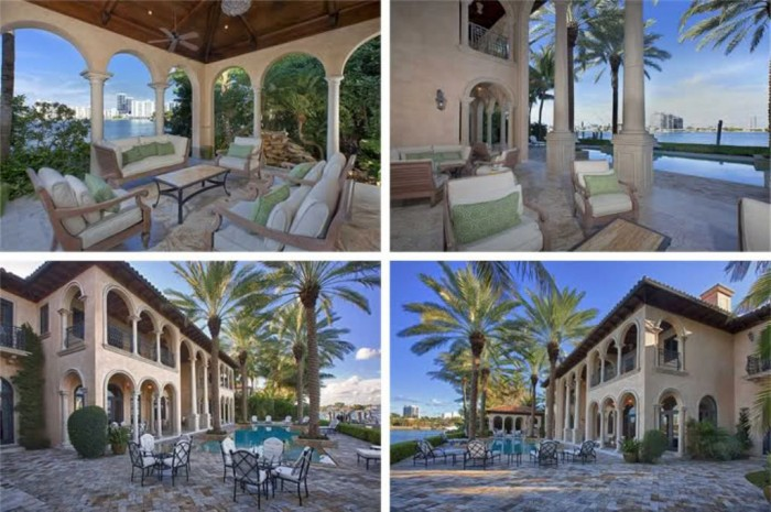 Top 10 most expensive celebrity homes topteny 2015 for Celebrity homes in florida