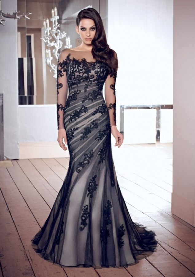 trumpetmermaid_square_long_sleeves_embroidery_applique_tulle_evening_dress