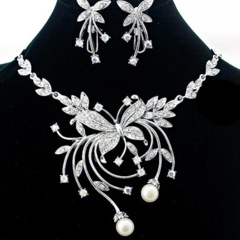 wedding jewelry sets with flower
