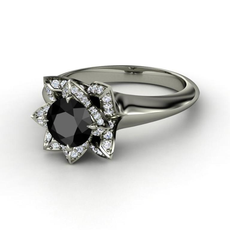 163256-850x850-round-black-diamond-14k-white-gold-ring-with-diamond