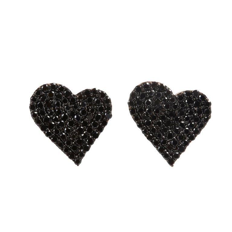 Alexandra-Moosally-Black-Diamond-Heart-Earrings