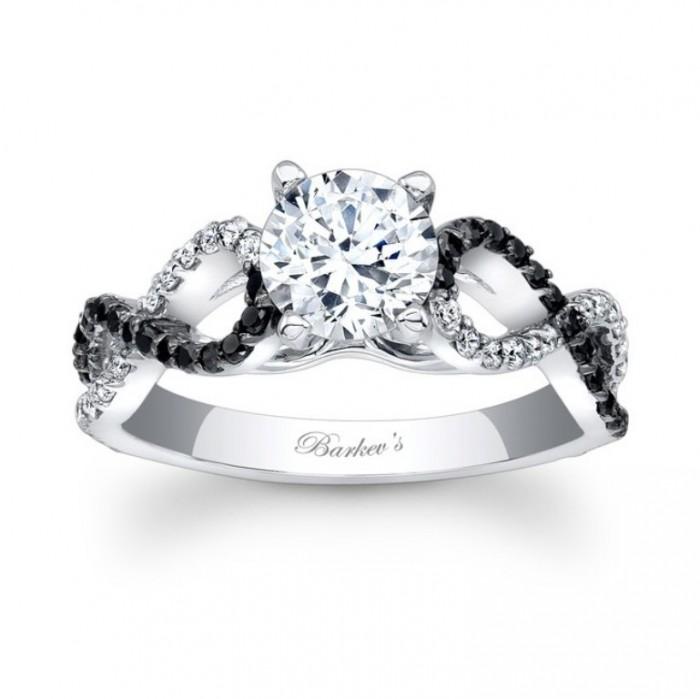 Barkevs Black Diamond Engagement Ring 7714LBKW