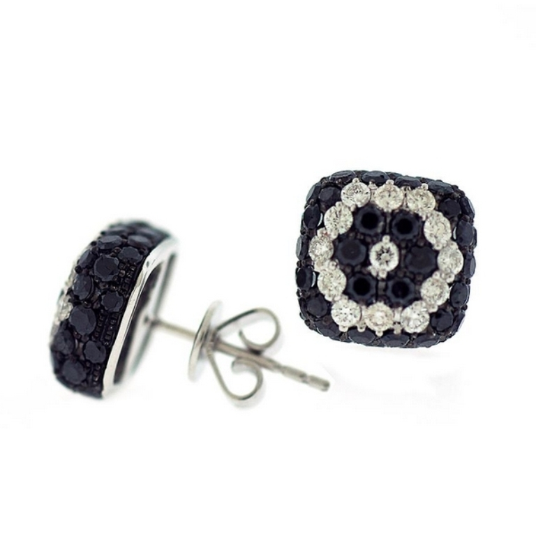 Black Diamond Earrings Square