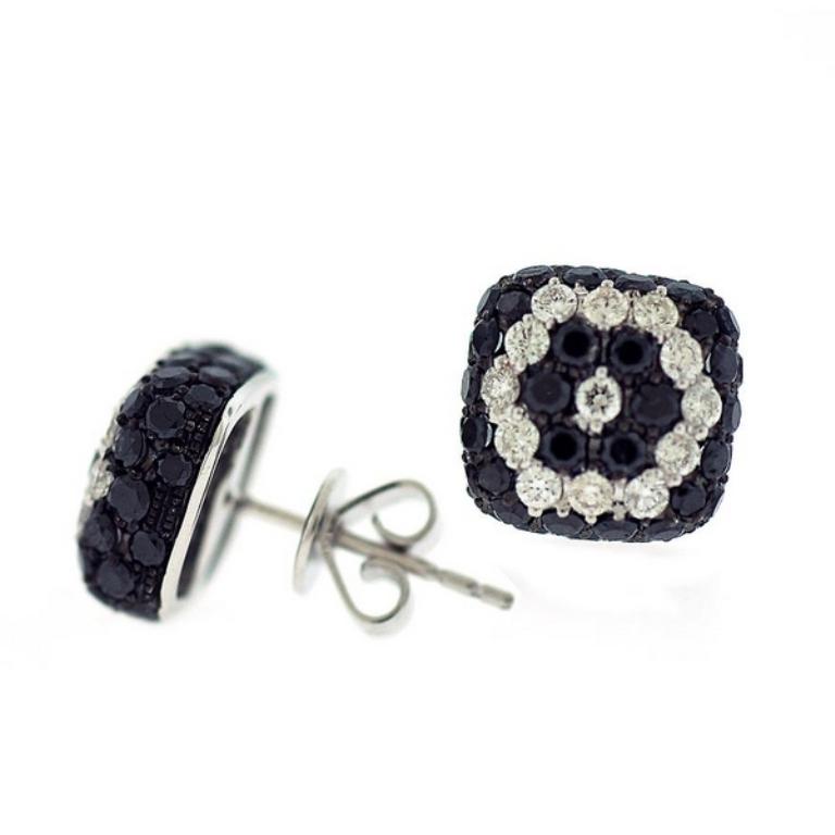 Black Diamond Earrings Square