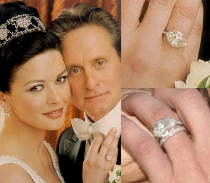 Catherine Zeta Jones's engagement ring