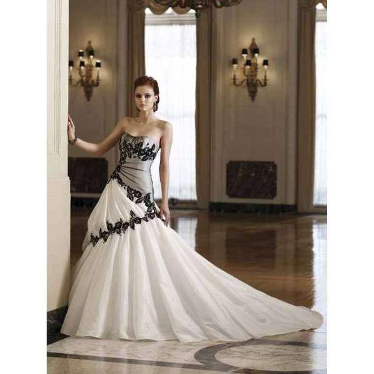 Corset-Black-and-White-Wedding-Dresses
