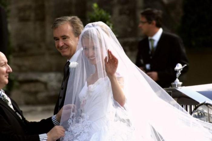 Delphine Arnault and Alessandro Vallarino Gancia .