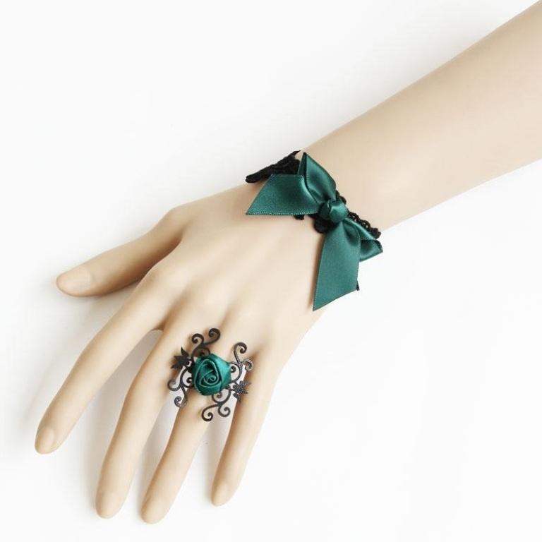 Fashion-Handmade-Jewelries-Lace-Gothic-Bracelet
