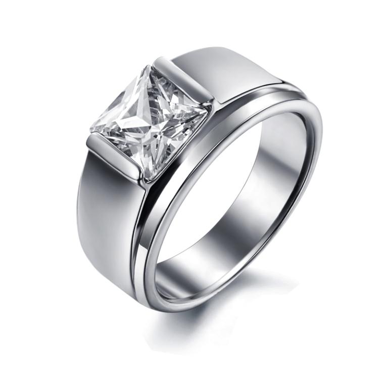 Fashion-Jewelry-316L-Stainless-Steel-Women-Men-font-b-Rings-b-font-Tycoon-Clear-CZ-Diamond