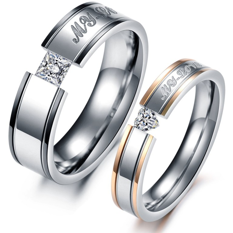 Fashion-Jewelry-316L-Stainless-Steel-font-b-Rings-b-font-Silver-Plated-Lovers-Couple-font-b