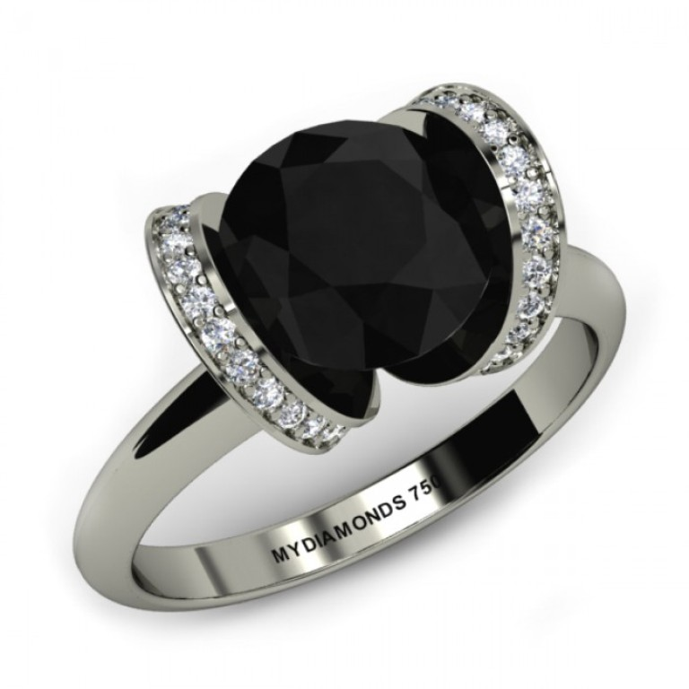 Jacy Black Diamond Engagement Ring 1