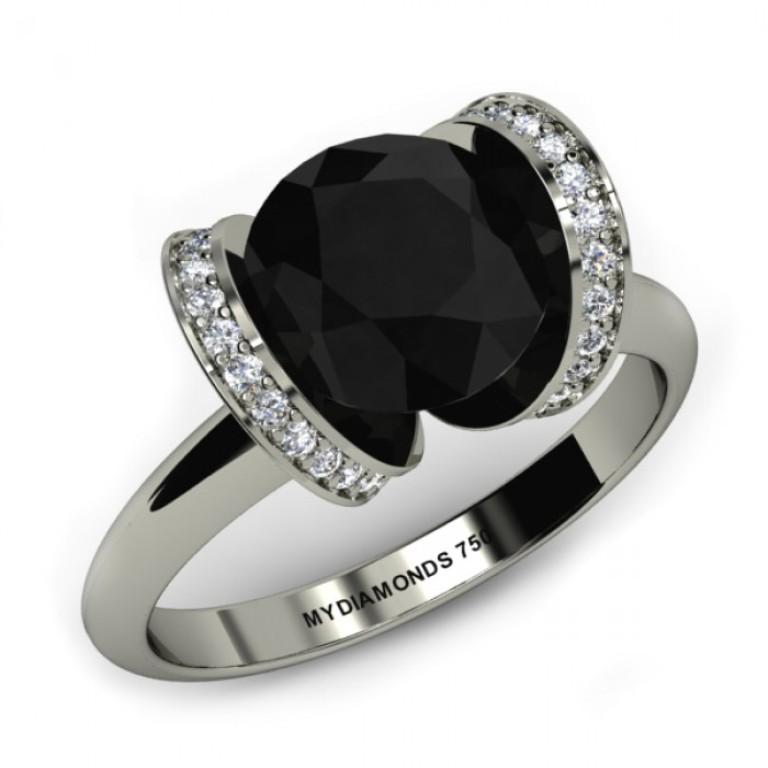 Jacy Black Diamond Engagement Ring 1