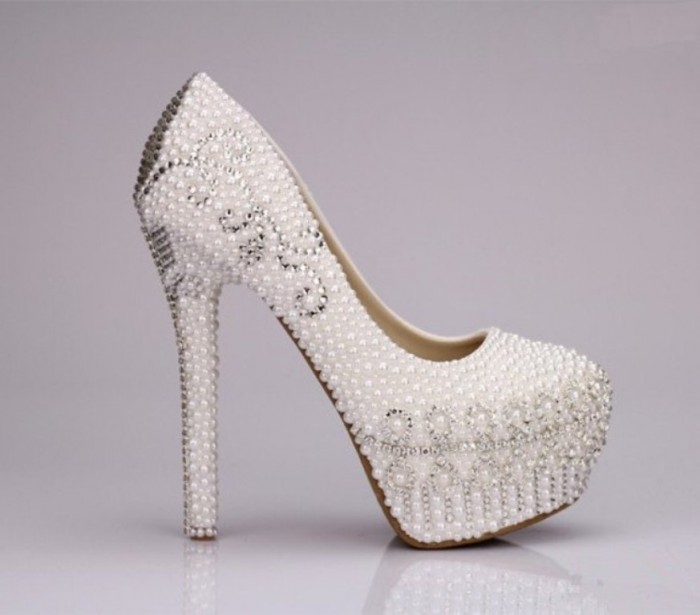 Top 10 best wedding shoes latest bridal wedding shoes high heel 2014 1 junglespirit Choice Image