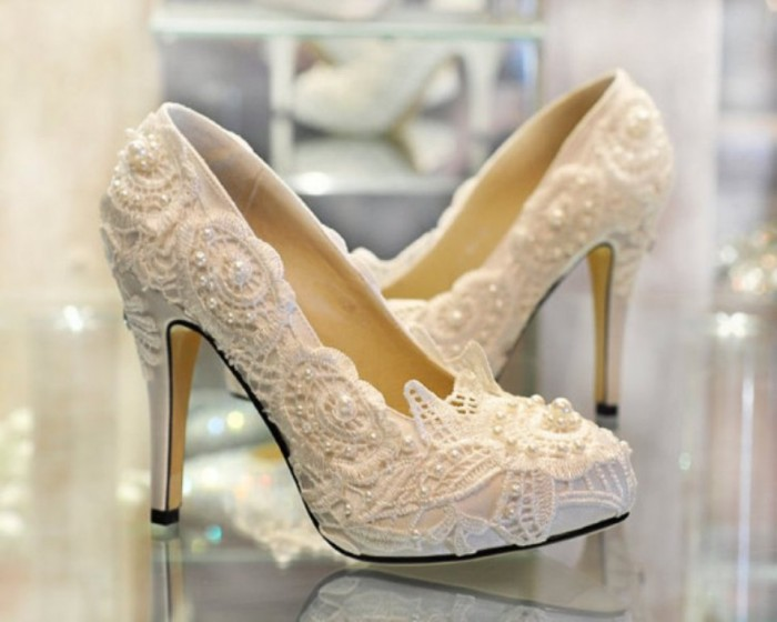 Latest Bridal Wedding Shoes High Heel 2017 3