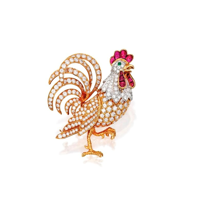 Lot-322-18-Karat-Gold-Platinum-Diamond-and-Ruby-Rooster-Brooch-Oscar-Heyman-Brothers-1200x1200