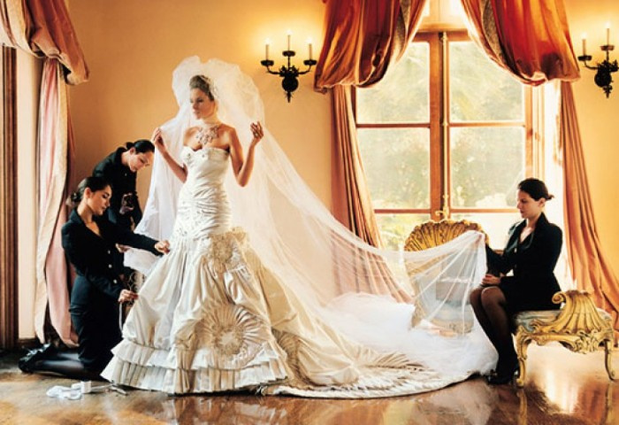 Melania Knauss's Wedding Dress