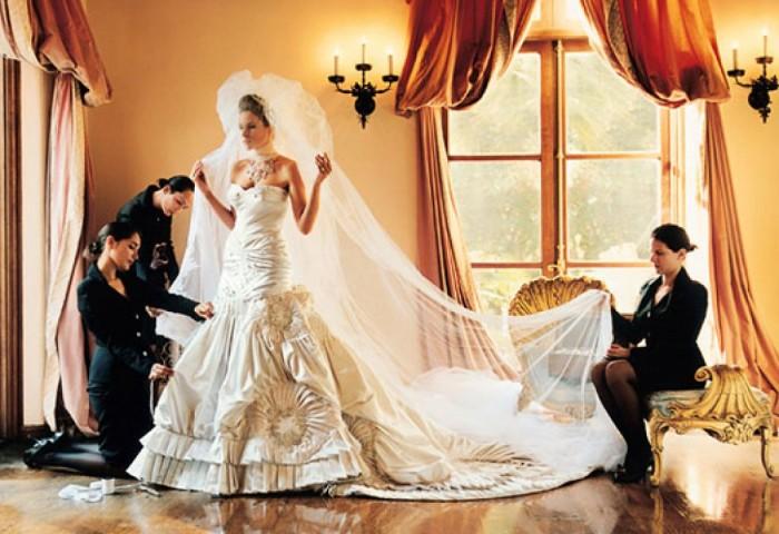 Melania Knauss's Wedding Dress