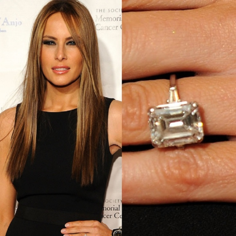 Melania Knauss's engagement ring