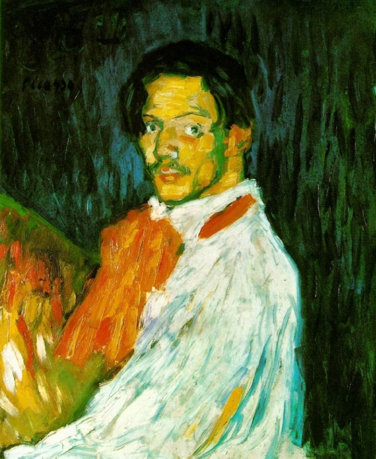 Picasso Autoportrait 'Yo, Picasso'. 1901. 73.5 x 60.5 cm. Oi