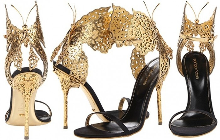 Sergio-Rossi-butterfly-sandal-gold-black-satin1