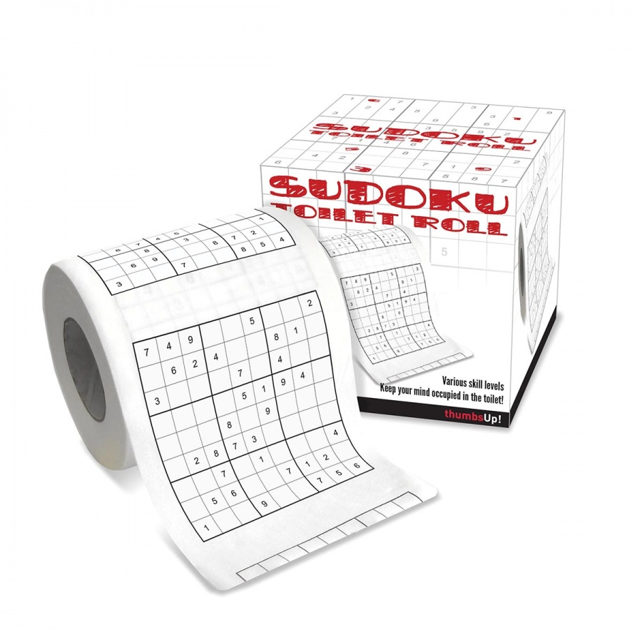 Sudoku toilet roll game to  enjoy your time while using the toilet
