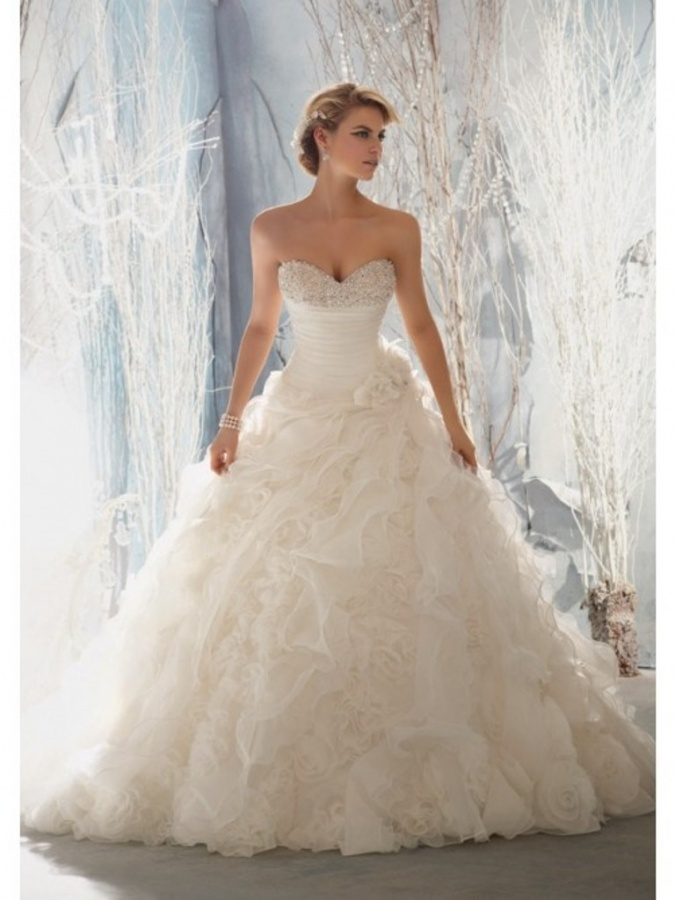 Top 10 most beautiful wedding dresses ruffles organza for Top 10 most beautiful wedding dresses