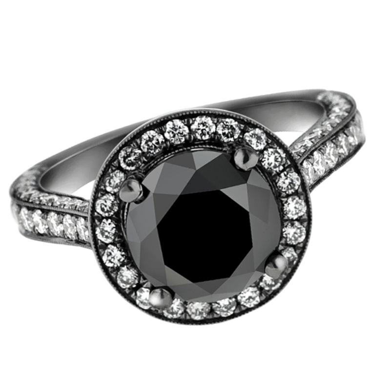 black-gold-black-diamond-engagement-ring