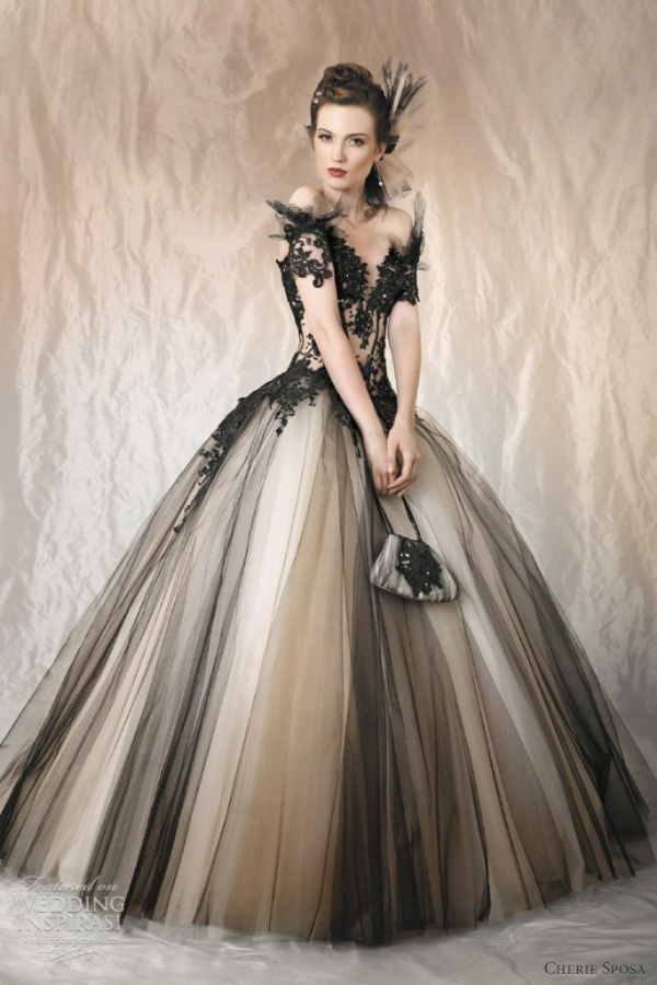 black-tulle-wedding-dress
