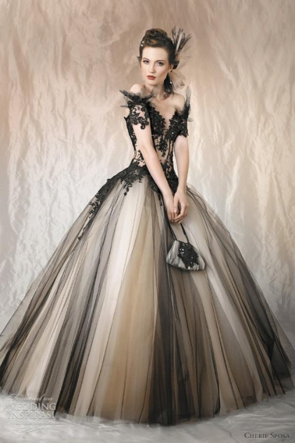 black-tulle-wedding-dress
