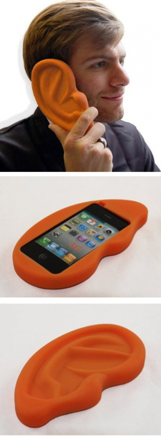 Ear-shaped case for your iPhone