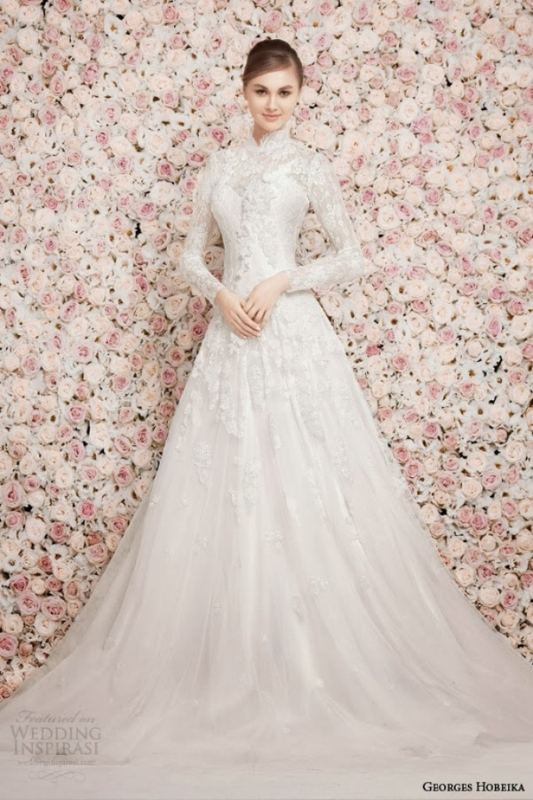georges-hobeika-bridal-spring-2014-long-sleeve-high-neck-modest-wedding-dress