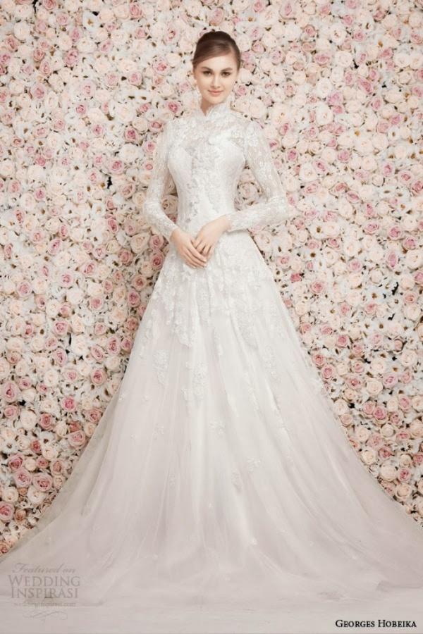 georges-hobeika-bridal-spring-2014-long-sleeve-high-neck-modest-wedding-dress