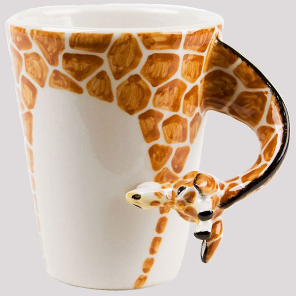 giraffe-shaped mug