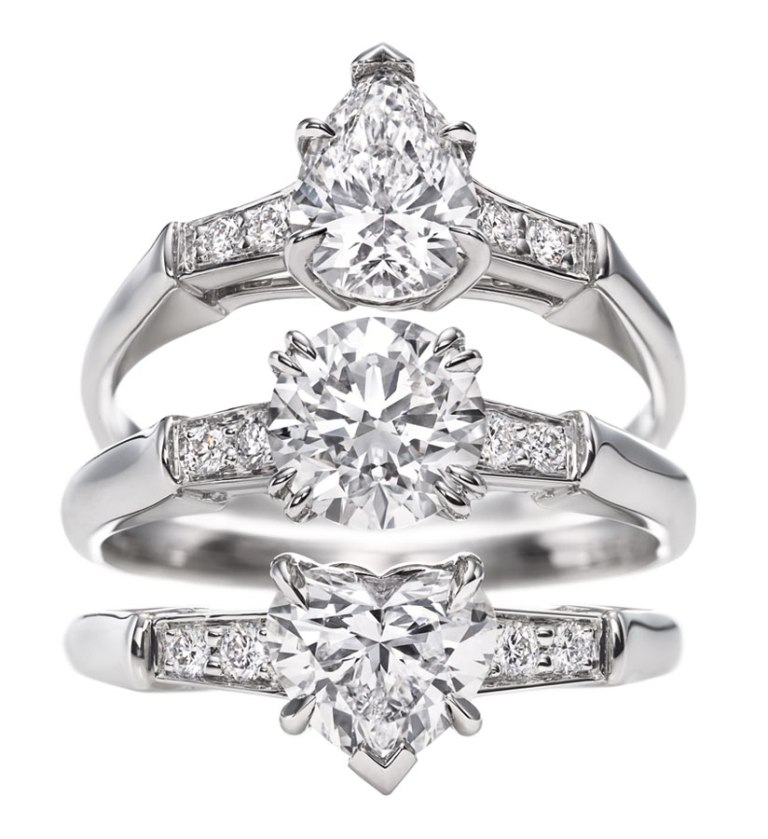 harry_winston._iconic_harry_winston_pear-shaped_round_brilliant_heart-shaped_rings
