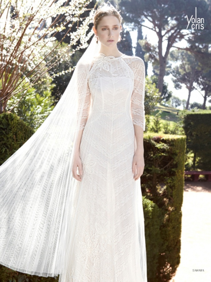 long sleeves wedding dress sahara yolan cris