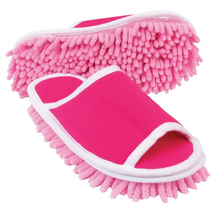 microfiber cleaning slippers for lazy people to clean their homes while walking