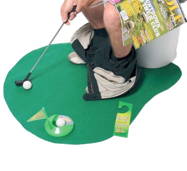 Potty putter toilet golf game for the bathroom
