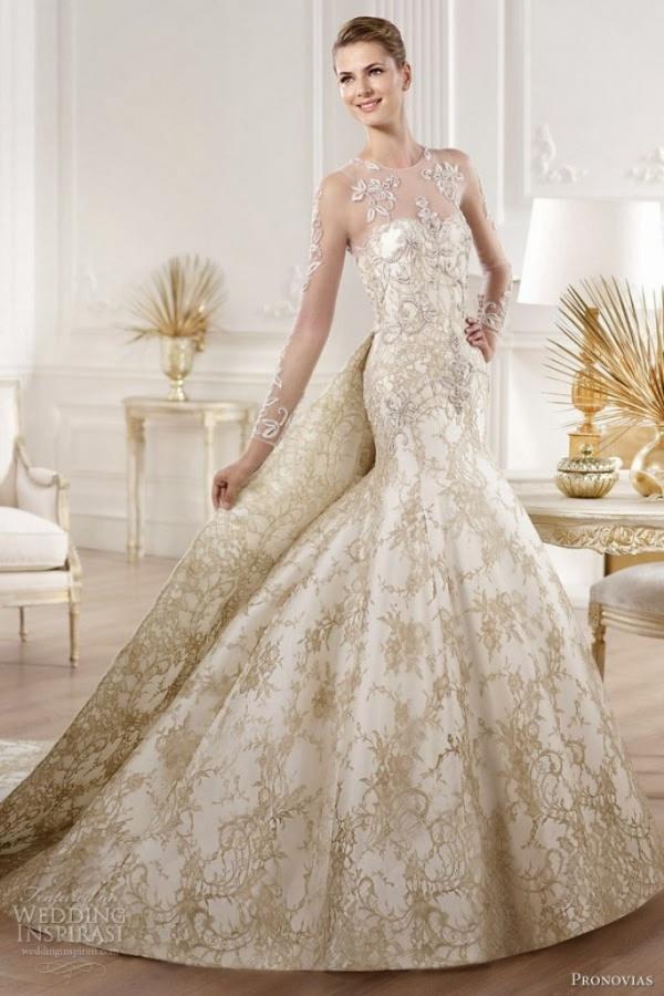 pronovias-2014-atelier-bridal-collection-yolima-gold-lace-wedding-dress