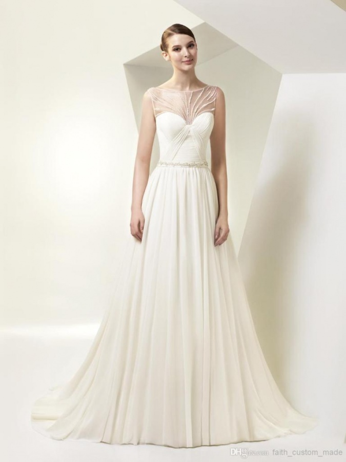 sheer-illusion-neck-wedding-dresses-2014
