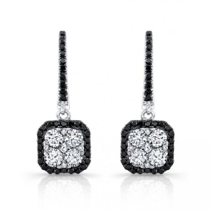 top 10 fabulous black diamond earring designs. Black Bedroom Furniture Sets. Home Design Ideas