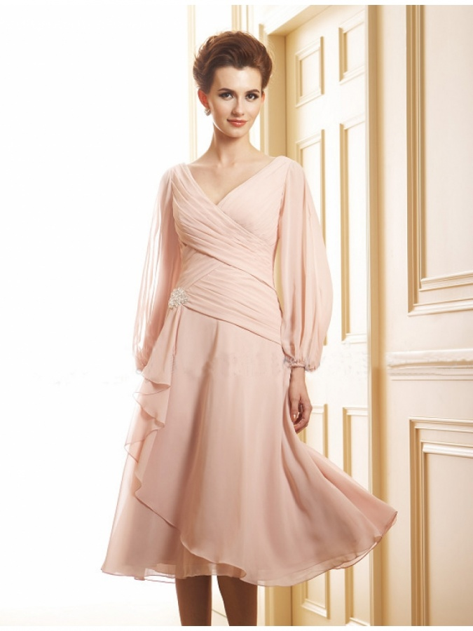 tea length mother of the bride dress a