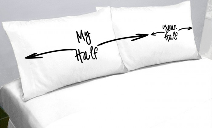 Funny pillows for dividing the bed