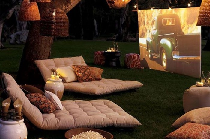 Turn your backyard into a cinema