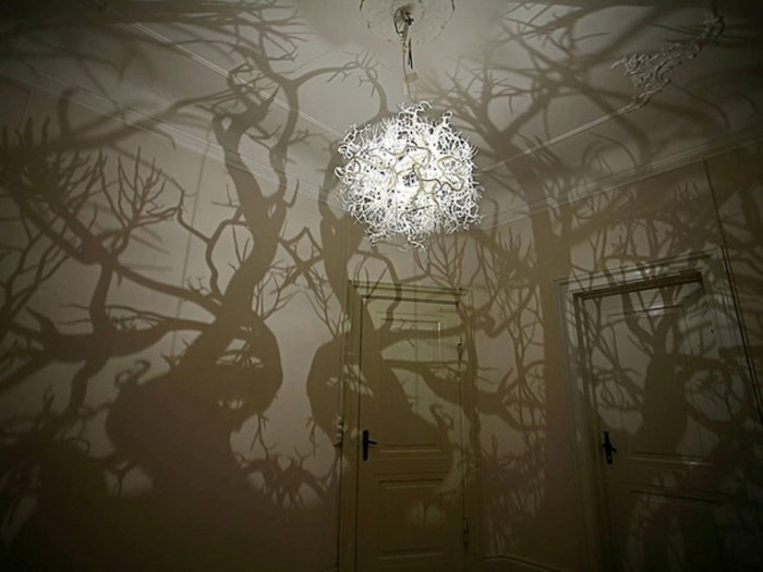 Unique chandelier to turn your room into a forest