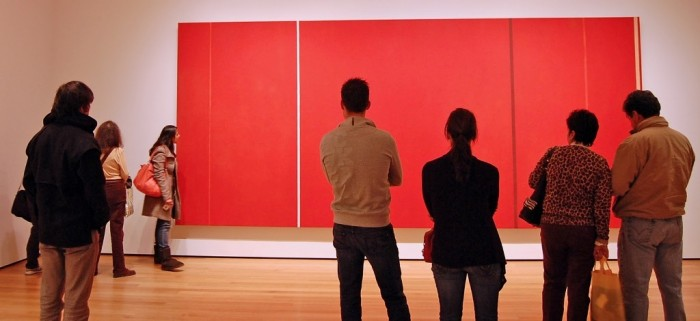 Newman painting in gallery