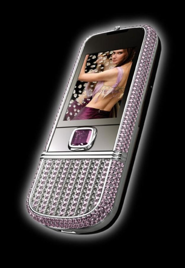 Nokia 8800 Arte with pink diamonds