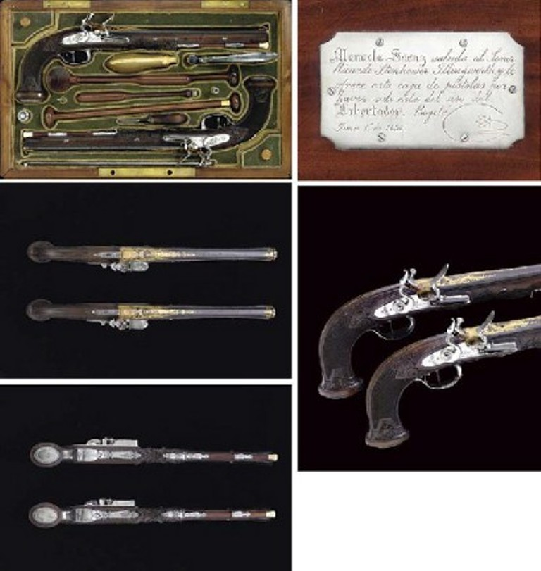 Pair of Nicolas-Noel Boutet pistols owned by Simon Bolivar