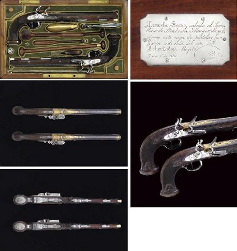 Pair of Nicolas-Noel Boutet pistols owned by Simon Bolivar