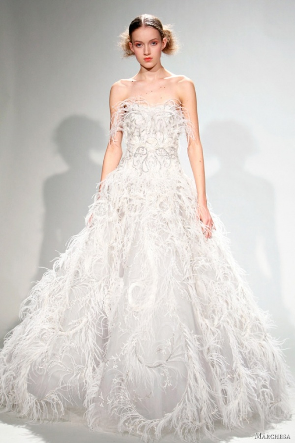 Top 8 Wedding Dress Brands : Marchesa wedding dress fall
