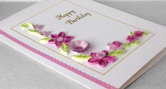 2 Paper quilled birthday card